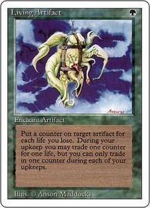 Magic the Gathering Revised Edition Single Card Rare Living Artifact