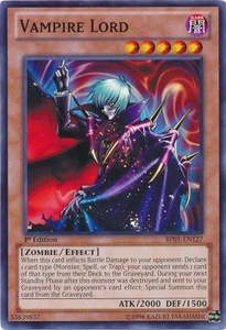 YuGiOh Battle Pack: Epic Dawn Single Card Common BP01-EN127 Vampire Lord