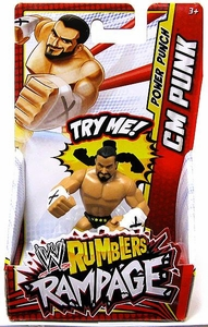 WWE Wrestling Rumblers Rampage Mini Figure CM Punk [Power Punch]