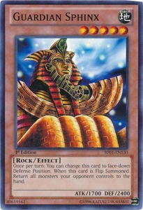 YuGiOh Battle Pack: Epic Dawn Single Card Common BP01-EN130 Guardian Sphinx