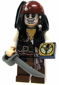 LEGO Pirates of the Caribbean LOOSE Mini Figure Cursed Jack Sparrow [Cutlass & Compass]