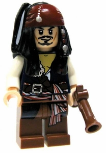 LEGO Pirates of the Caribbean LOOSE Mini Figure Captain Jack Sparrow [Flintlock Pistol]