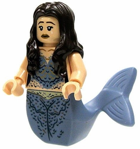 LEGO Pirates of the Caribbean LOOSE Mini Figure Mermaid with Brown Hair & Blue Tail [Dual Head Scales / Light Flesh]
