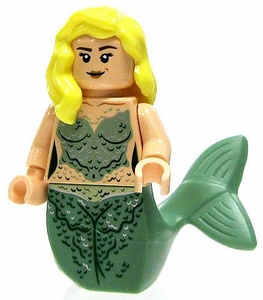 LEGO Pirates of the Caribbean LOOSE Mini Figure Mermaid with Blonde Hair & Green Tail [Dual Head Scales / Light Flesh]