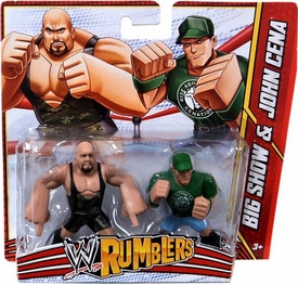 WWE Wrestling Rumblers Mini Figure 2-Pack Big Show & John Cena