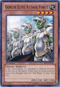 YuGiOh Battle Pack: Epic Dawn Single Card Common BP01-EN140 Goblin Elite Attack Force
