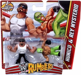 WWE Wrestling Rumblers Mini Figure 2-Pack Hunico & Rey Mysterio