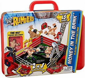 WWE Wrestling Rumblers Ring, Playset & Carry Case Money in the Bank [The Miz Figure]