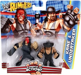 WWE Wrestling Rumblers Mini Figure 2-Pack Kane with Mask & Undertaker