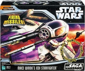Star Wars Saga 2006 Vehicle Mace Windu's Jedi Starfighter