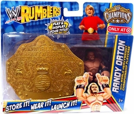 WWE Wrestling Rumblers Exclusive Randy Orton with World Heavyweight Championship Playcase