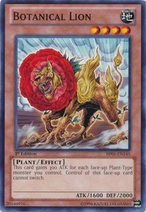 YuGiOh Battle Pack: Epic Dawn Single Card Common BP01-EN145 Botanical Lion