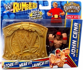 WWE Wrestling Rumblers Exclusive John Cena with WWE Championship Playcase