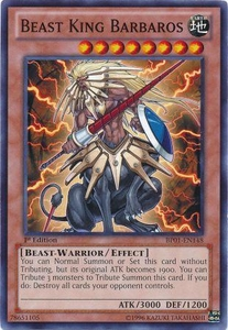 YuGiOh Battle Pack: Epic Dawn Single Card Common BP01-EN148 Beast King Barbaros