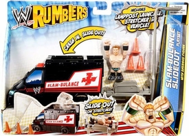 WWE Wrestling Rumblers Accessory Set Slam-Bulance Slideout Playset [Sheamus Figure]