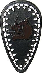 LEGO Castle LOOSE Shield Large Black Shield with Red Boar Sigil