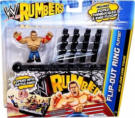 WWE Wrestling Rumblers Flip-Out Ring Playset [John Cena Figure] BLOWOUT SALE!