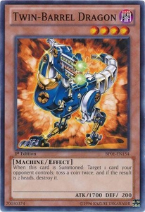 YuGiOh Battle Pack: Epic Dawn Single Card Common BP01-EN154 Twin-Barrel Dragon