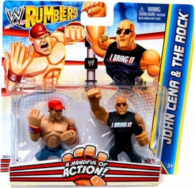 WWE Wrestling Rumblers Mini Figure 2-Pack John Cena & The Rock