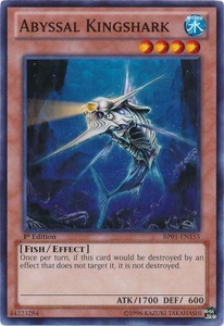 YuGiOh Battle Pack: Epic Dawn Single Card Common BP01-EN155 Abyssal Kingshark