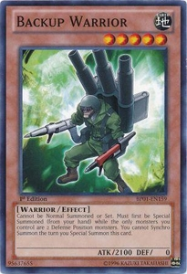 YuGiOh Battle Pack: Epic Dawn Single Card Common BP01-EN159 Backup Warrior