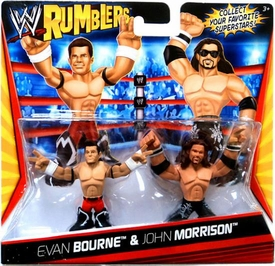 WWE Wrestling Rumblers Mini Figure 2-Pack Evan Bourne & John Morrison