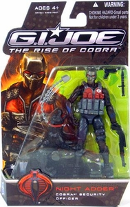 GI Joe Movie The Rise of Cobra 3 3/4 Inch Action Figure Night Adder [Cobra Security Officer]