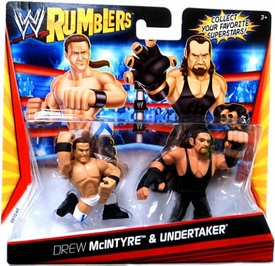 WWE Wrestling Rumblers Mini Figure 2-Pack Drew McIntyre & Undertaker