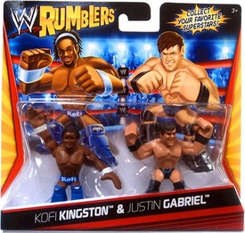 WWE Wrestling Rumblers Mini Figure 2-Pack Kofi Kingston [Blue Outfit] & Justin Gabriel