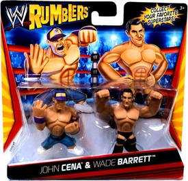 WWE Wrestling Rumblers Mini Figure 2-Pack Wade Barrett & John Cena