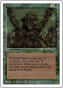 Magic the Gathering Revised Edition Single Card Rare Living Lands