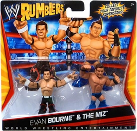 WWE Wrestling Rumblers Mini Figure 2-Pack Evan Bourne & The Miz