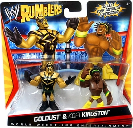 WWE Wrestling Rumblers Mini Figure 2-Pack Goldust & Kofi Kingston [Yellow Outfit]
