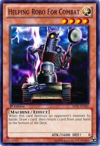 YuGiOh Battle Pack: Epic Dawn Single Card Common BP01-EN181 Helping Robo for Combat