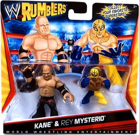 WWE Wrestling Rumblers Mini Figure 2-Pack Kane & Rey Mysterio