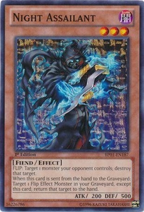 YuGiOh Battle Pack: Epic Dawn Single Card Common BP01-EN187 Night Assailant