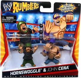WWE Wrestling Rumblers Mini Figure 2-Pack Hornswoggle & John Cena [Purple Hat]