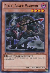 YuGiOh Battle Pack: Epic Dawn Single Card Common BP01-EN188 Pitch-Black Warwolf