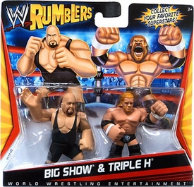 WWE Wrestling Rumblers Mini Figure 2-Pack Big Show & Triple H
