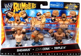 WWE Wrestling Rumblers Exclusive Mini Figure 3-Pack Sheamus, John Cena & Triple H