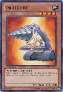 YuGiOh Battle Pack: Epic Dawn Single Card Common BP01-EN191 Drillroid