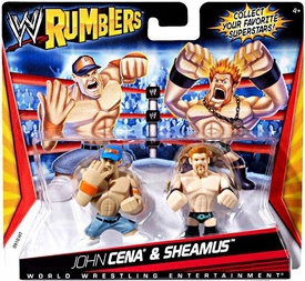 WWE Wrestling Rumblers Mini Figure 2-Pack John Cena [Blue Hat] & Sheamus