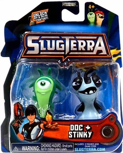 Slugterra Mini Figure 2-Pack Doc & Stinky [Includes Code for Exclusive Game Items]