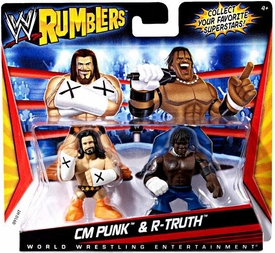 WWE Wrestling Rumblers Mini Figure 2-Pack CM Punk & R-Truth
