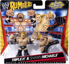 WWE Wrestling Rumblers Mini Figure 2-Pack Triple H & Shawn Michaels Hard to Find!