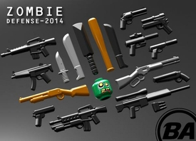 BrickArms Series 2014 Zombie Defense Pack