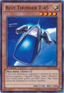 YuGiOh Battle Pack: Epic Dawn Single Card Common BP01-EN198 Blue Thunder T-45