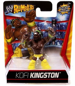 WWE Wrestling Rumblers Mini Figure Kofi Kingston [Yellow Outfit]