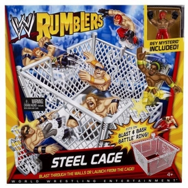 WWE Wrestling Rumblers Playset Steel Cage Ring [Rey Mysterio Figure]