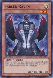YuGiOh Battle Pack: Epic Dawn Single Card Common BP01-EN205 Fabled Raven